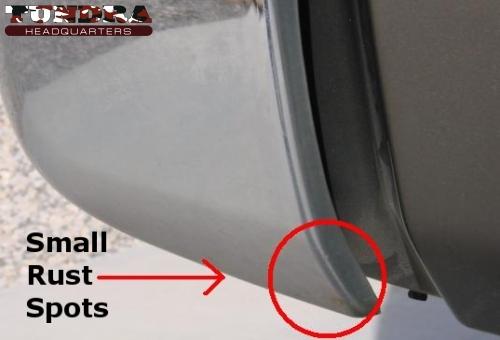 Toyota Tundra bumper rust spots