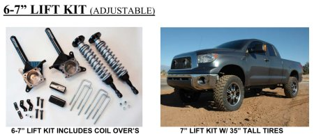 CST''s 7 inch lift kit allows installation of 35 inch tires