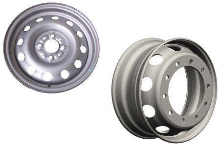 Steel wheels are great for trucks because they're cheap and strong.