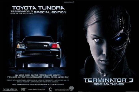 The Toyota Tundra Terminator edition promotion.