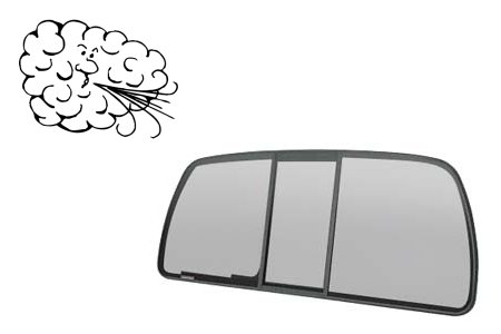 At the right speed, opening your rear window is like turning a leaf-blower loose on your truck's interior.