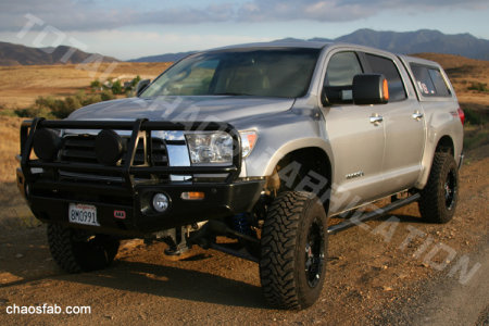 Long travel suspension for 2007 and up Toyota Tundras from Total Chaos