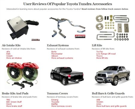 The new TundraHeadquarters.com accessory review system