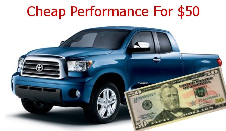 Cheap truck performance tips - 5 ways to go faster for less than $50