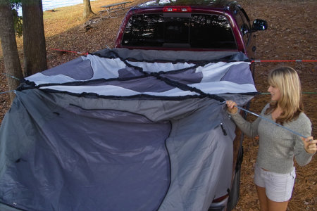 Setting up the Camp-Right tent is easy enough, but where's the floor?