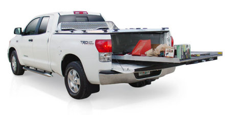 IFW's BedSlide is like a big heavy-duty dresser drawer for your truck bed.