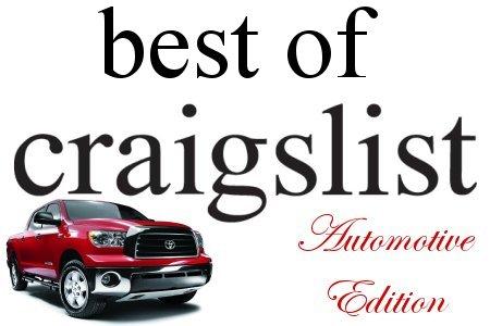 Best of Craigslist posts with an automotive flavor