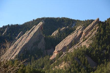 The Flatirons near Boulder, Colorado.
