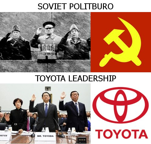 Similarities between Toyota leadership and Soviet Russia