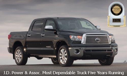2010 Toyota Tundra Dependability Award