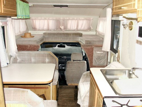 Toyota motorhome interior - front