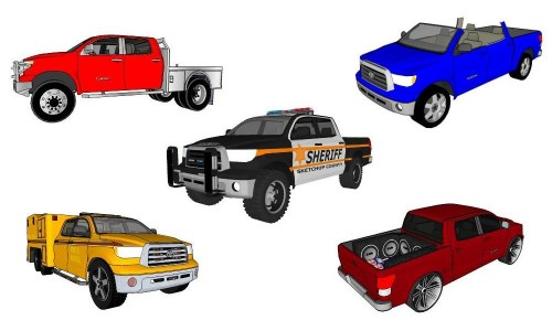 3d models of Toyota Tundra concepts