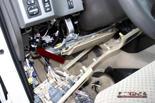 Flasher module location 2010 Tundra dash panel removed