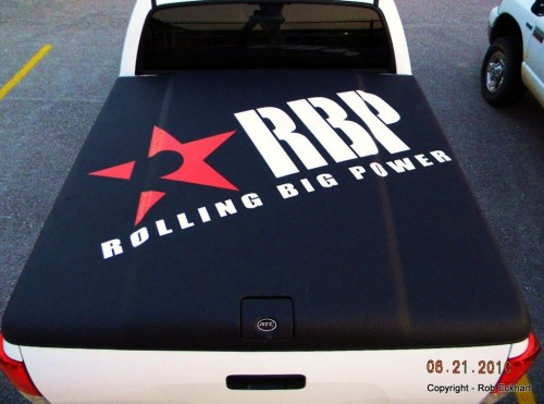 Tonneau cover with RBP decal