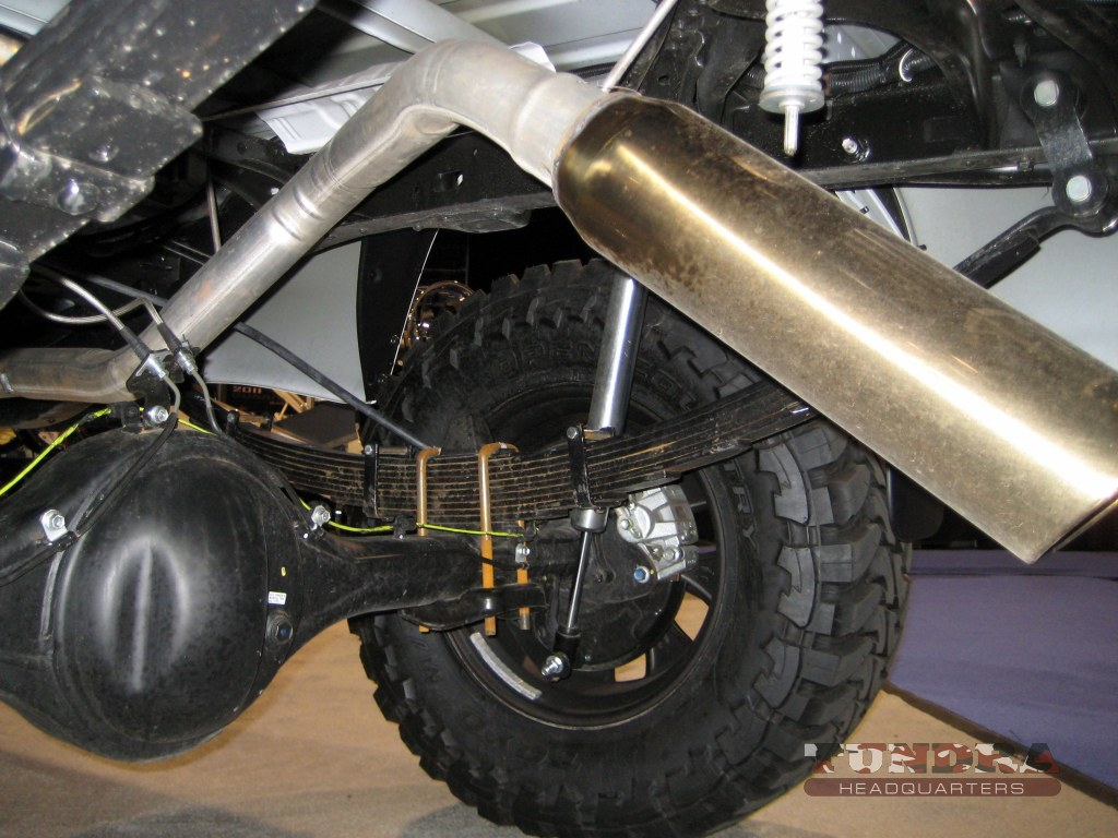 Atlas leaf springs help improve the 2 Crave Tundra's off-road capability.
