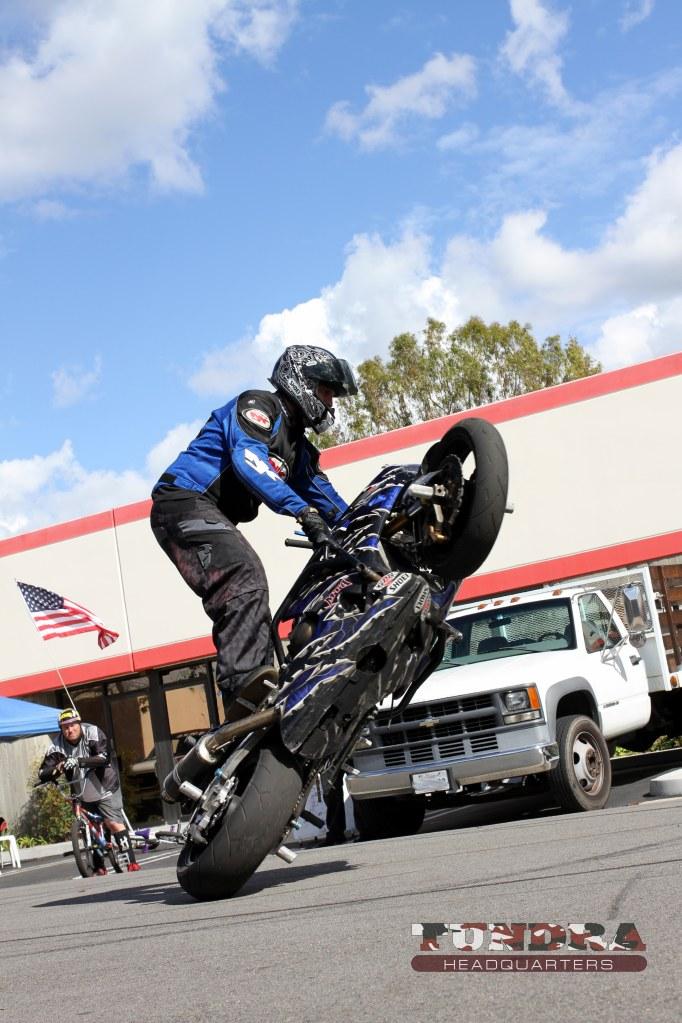 Stunt Bike Riding Sideways - First shot