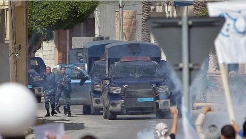 Libyan police using Toyota Tundra