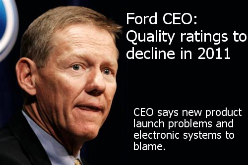 Ford JD Power quality ratings decline 2011