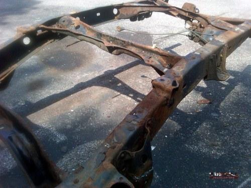 Tundra frame rust - rear frame section