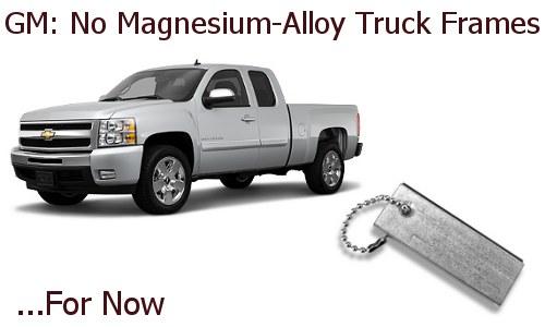 GM magnesium alloy truck frame