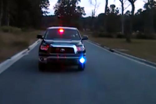 Toyota Tundra police truck