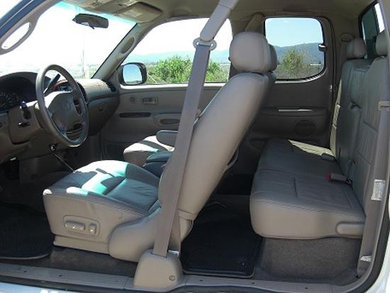 Featured Truck - Black and White Custom 2000 Toyota Tundra - Interior