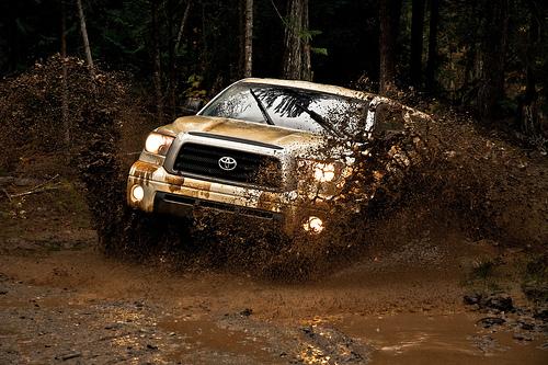 Off-Roading Canada Toyota Style - Tundra Mud Photo