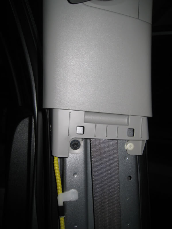 Step 5: Remove the upper portion of the B-pillar