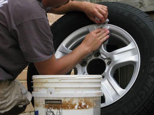 DIY Wheel Painting- Step 2
