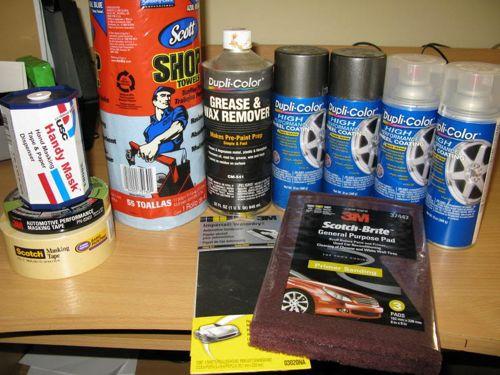 DIY Wheel Painting- Supplies