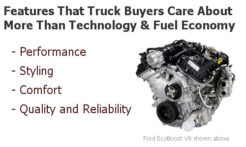 Amazingly, truck buyers care more about comfort than advanced technology