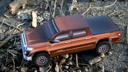 Paper 2014 Toyota Tundra model - top view