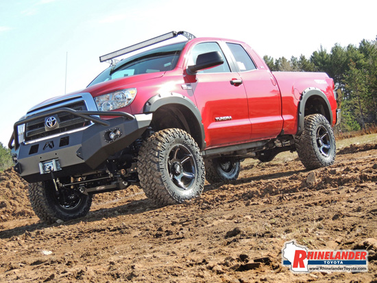 Lady in Red Toyota Tundra - Featured Truck