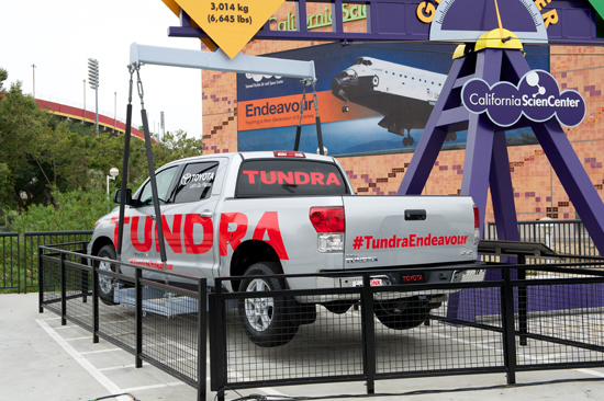 Toyota Tundra Giant Lever Exhibit - Endeavour Project Continued