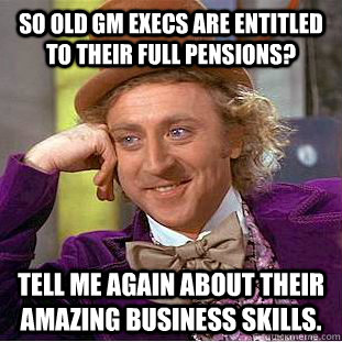 Shameless GM Execs demand full pensions