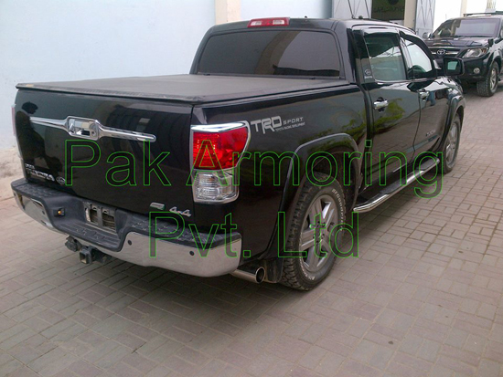 Bullet-Resistant, Armored Toyota Tundra - Rear