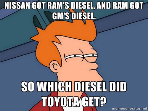 Ram Nissan GM diesel truck engine story