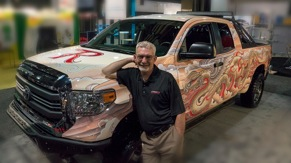 The 2014 Raybestos Rattlesnake Toyota Tundra winner.