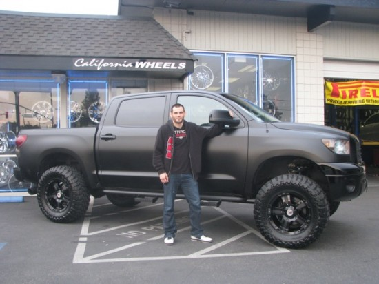 UFC Fighter's Custom Toyota Tundra - Matte Black Beauty
