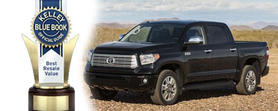 2014 Toyota Trucks Best Resale Value Kelley Blue Book Tundra