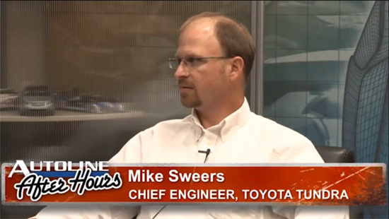 Sweers Hints at New Tundra Transmission and Differential Ratios - Autoline Interview
