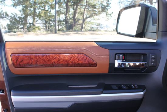 It isn't too often that we talk about doors, but I really liked how they carried the styling throughout the truck.