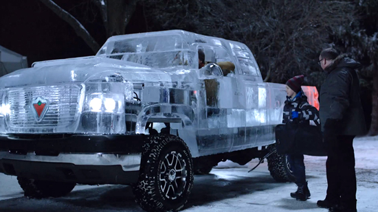 Pickup Made From Ice - You Can Drive It Too