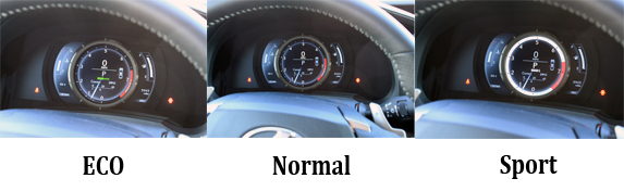 204 Lexus IS 350 F-SPORT Review - Speedometer Modes