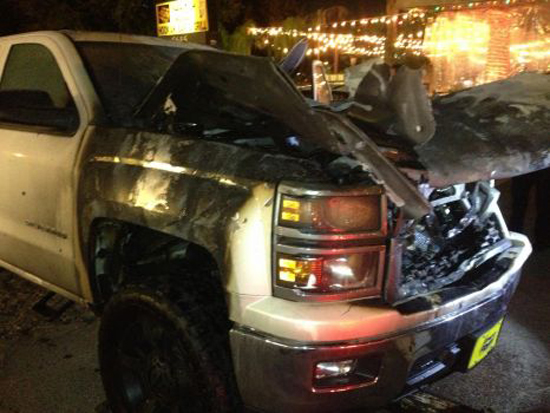 GM Trucks Recalled - More Than Idle? Truck Fire Photos