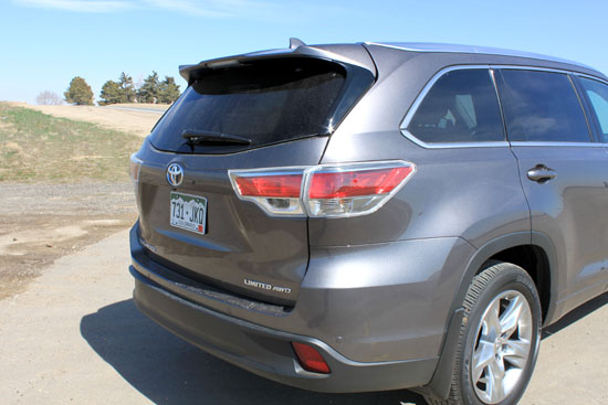 2014 Toyota Highlander Limited Review - Rear Hatch