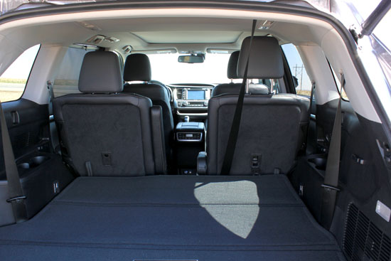 2014 Toyota Highlander Limited Review - Rear Storage