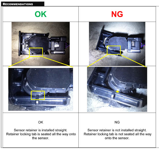 Toyota Issues Tech Tip - 2014 Tundra Pickups Park Assist Issue - Diagram