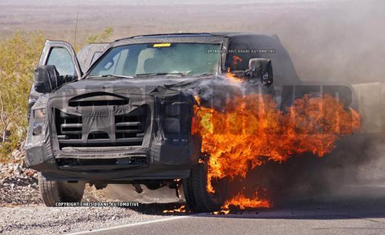 Ford F-Series Prototype Reduced to Ashes