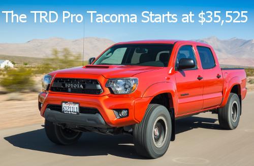 Tacoma TRD Pro Pricing